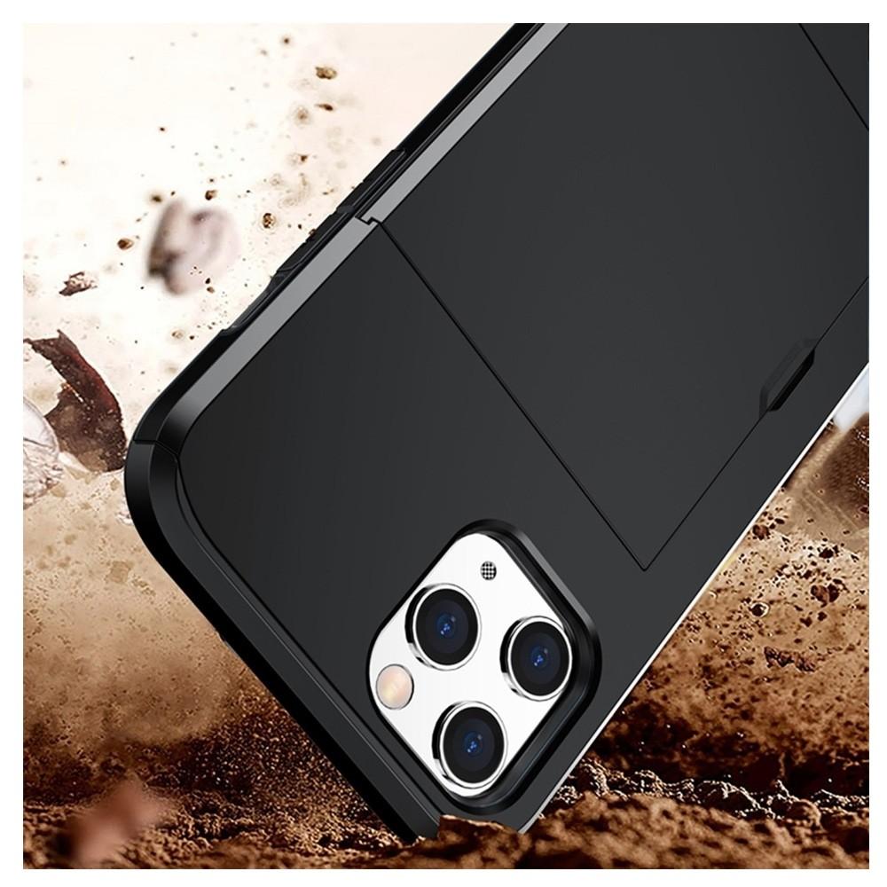 Mobiq Hybrid Card Hoesje iPhone 12 Pro Max Zwart - 3