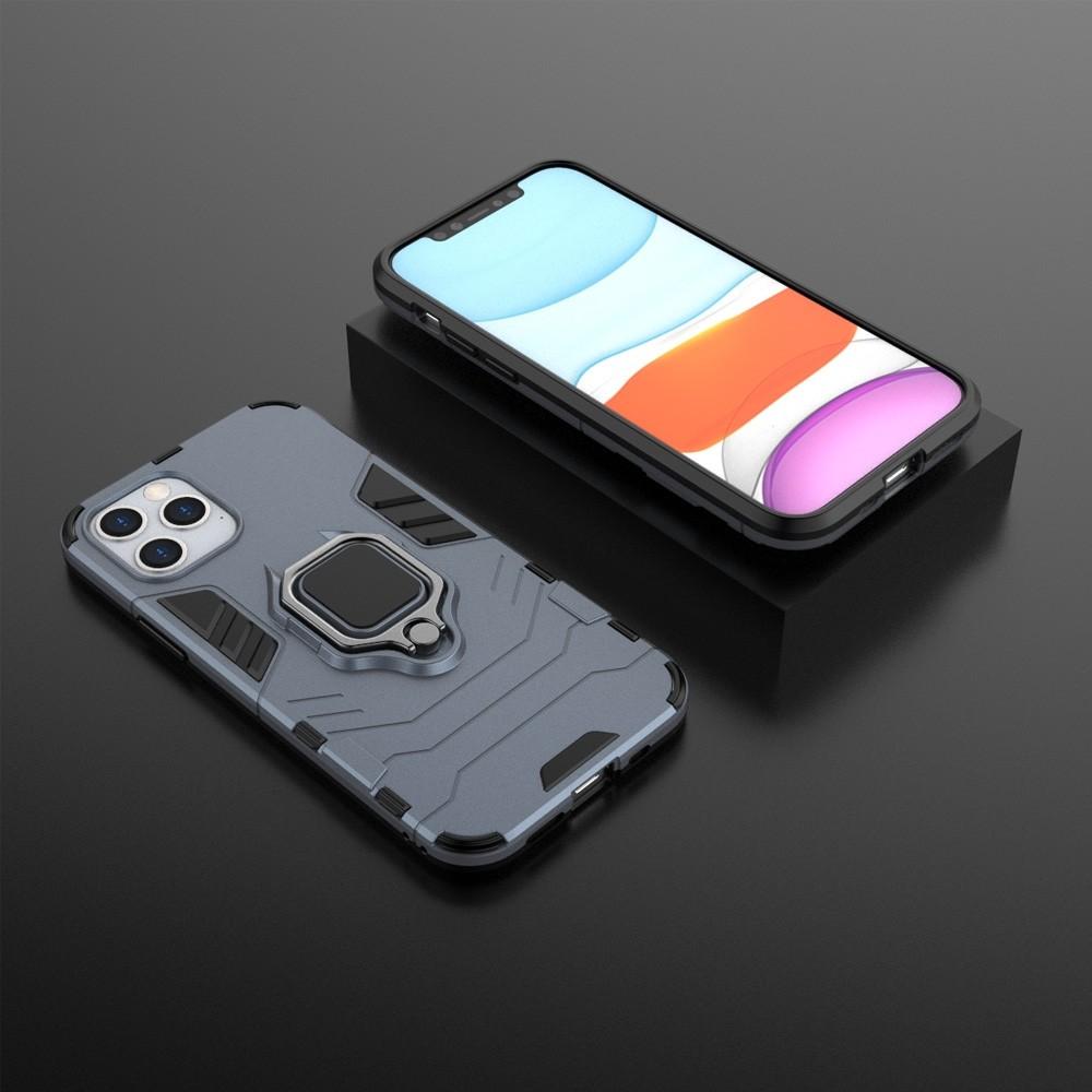 Mobiq Hybrid Magnetic Ring Case iPhone 12 Pro Max Blauw - 3