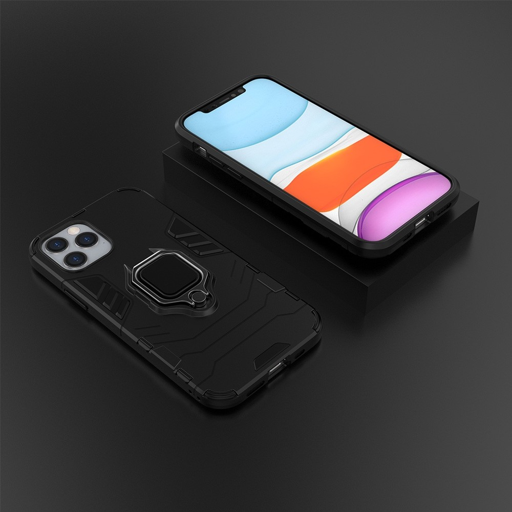 Mobiq Hybrid Magnetic Ring Case iPhone 12 Pro Max Zwart - 3
