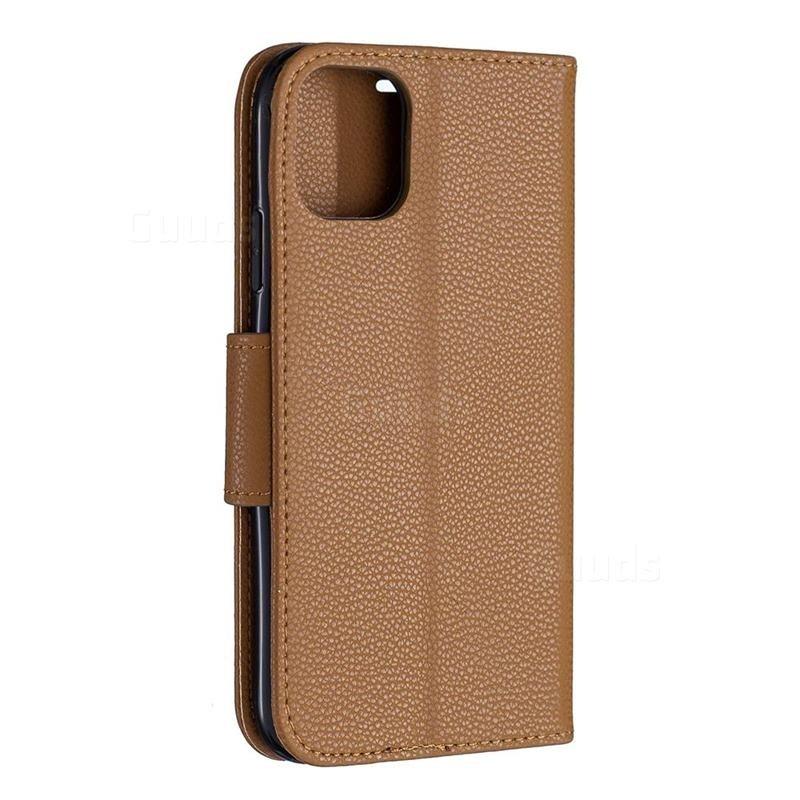 Mobiq Klassieke Portemonnee Hoes iPhone 11 Pro Bruin - 3