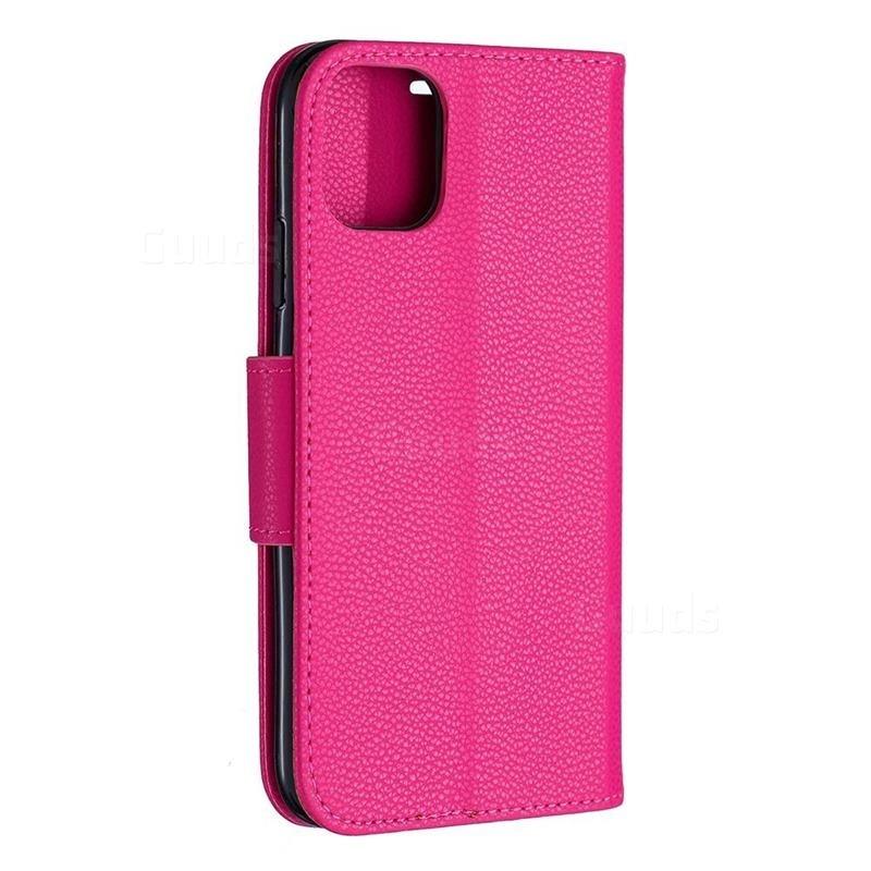 Mobiq Klassieke Portemonnee Hoes iPhone 11 Pro Max Roze - 3