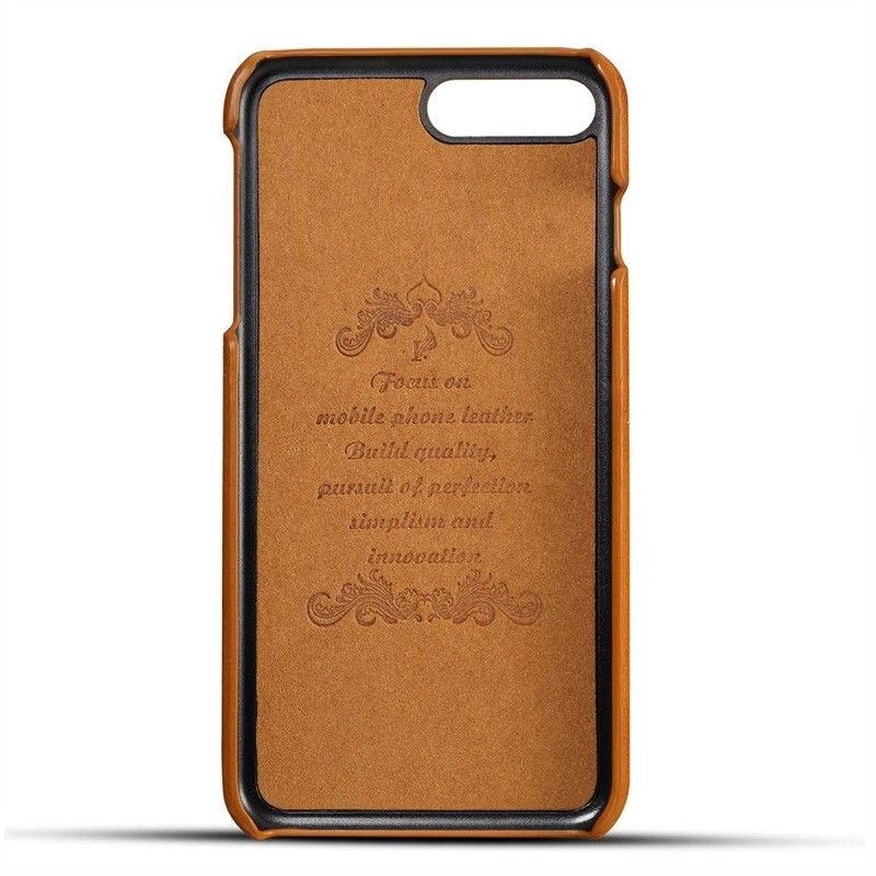 Mobiq Leather Snap On Wallet iPhone 8 Plus/7 Plus Tan Brown - 3