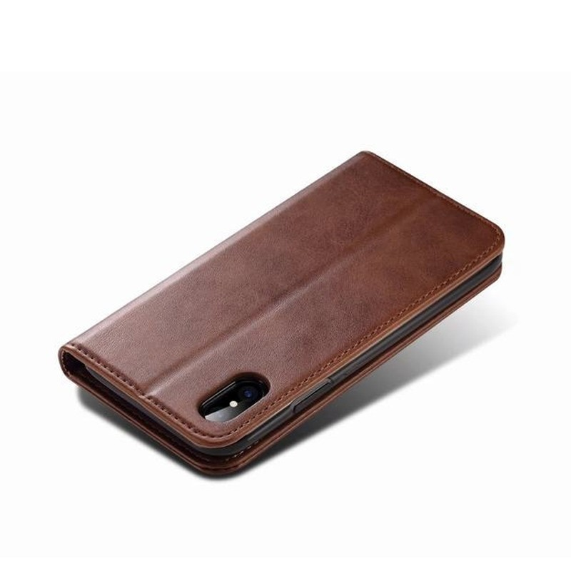 Mobiq Lederen iPhone X/Xs Portemonnee Hoes Bruin 03