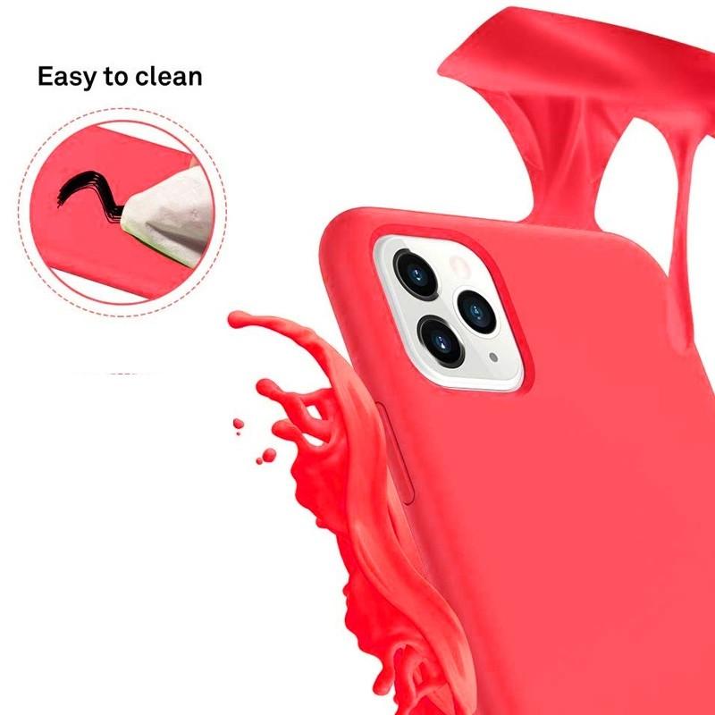 Mobiq - Liquid Siliconen Hoesje iPhone 11 Rood - 3