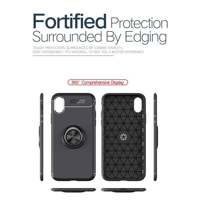 Mobiq Magnetic Ring Case iPhone X/XS Blauw - 3