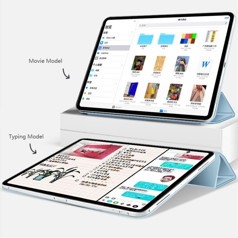 Mobiq Magnetische Folio Hoes iPad Pro 11 inch (2021/2020/2018) en iPad Air (2020) Lichtgroen - 3