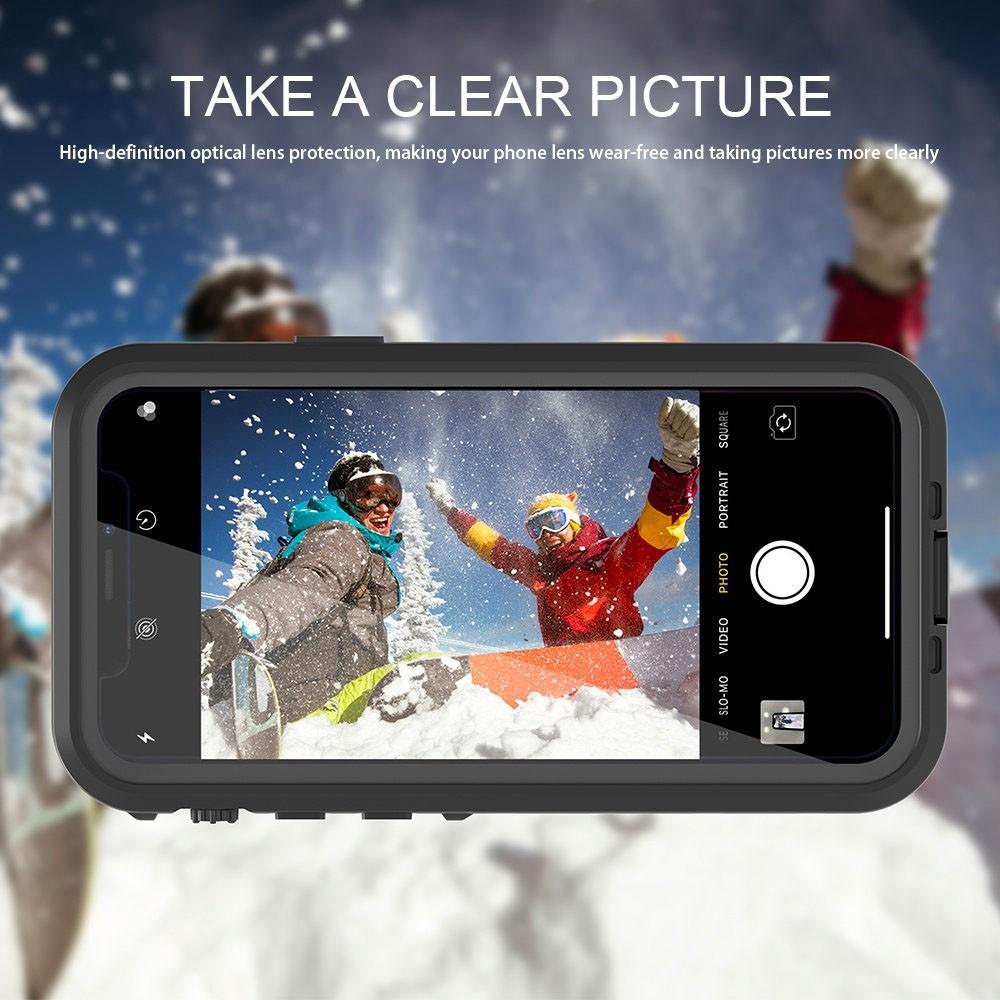Mobiq - Waterdicht iPhone 11 Pro Max Hoesje Zwart - 3