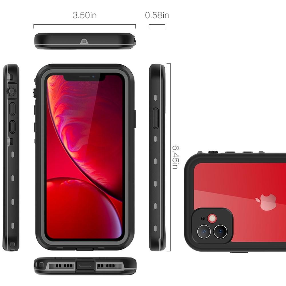 Mobiq - Waterdicht iPhone 11 Hoesje Zwart - 3