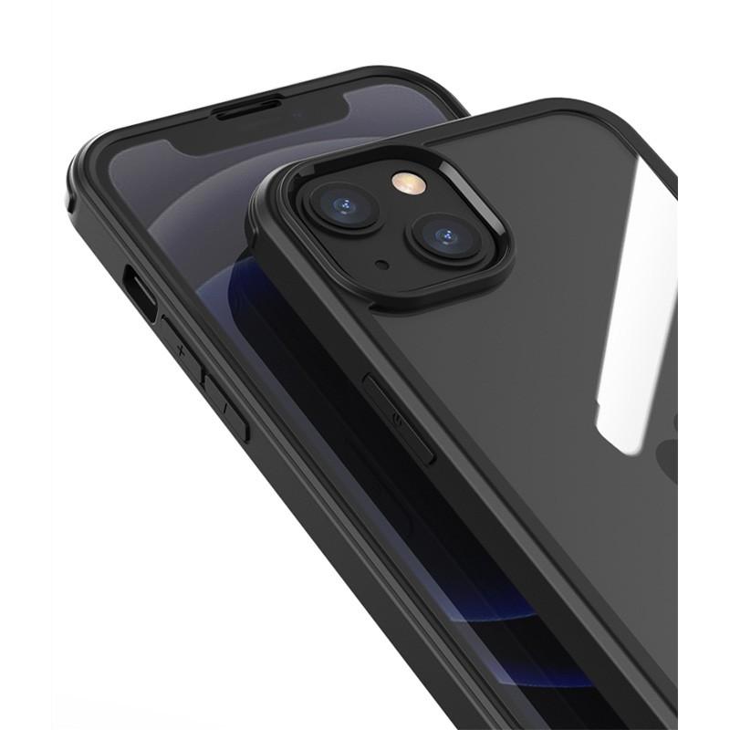 Mobiq Rugged 360 Graden Case iPhone 13 Pro Max Blauw - 3