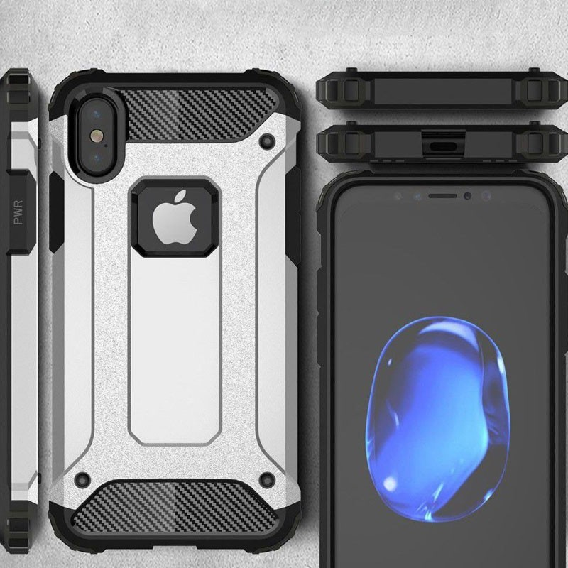 Mobiq Rugegd Armor Case iPhone X Wit  - 3