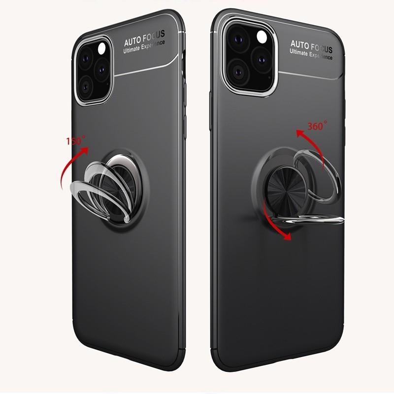 Mobiq TPU Ring Hoesje iPhone 11 Pro Max Zwart - 3