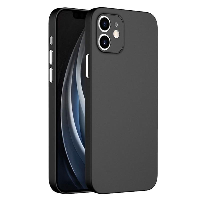 Mobiq - Ultra Dun 0.3mm Hoesje iPhone 12 6.1 Zwart - 3