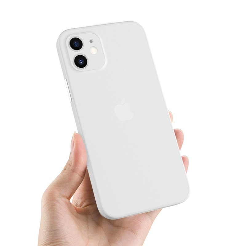 Mobiq - Ultra Dun 0.3mm Hoesje iPhone 12 Mini Transparant - 3