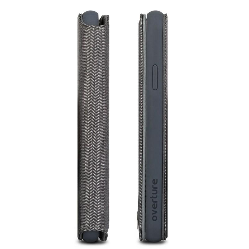Moshi iGlaze iPhone XS Max Hoesje Herringbone Grey 03