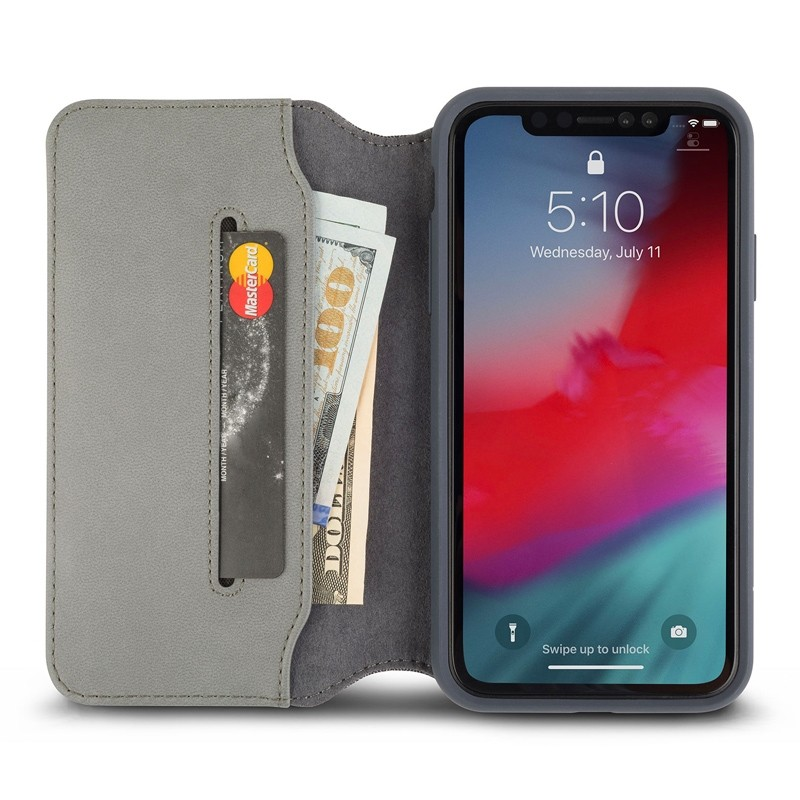 Moshi Overture Wallet Hoes iPhone XR Grijs 03