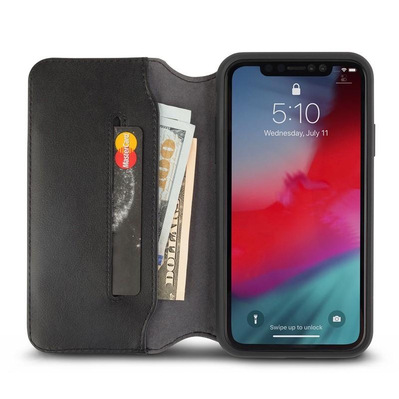 Moshi Overture Wallet Hoes iPhone XR Zwart 03