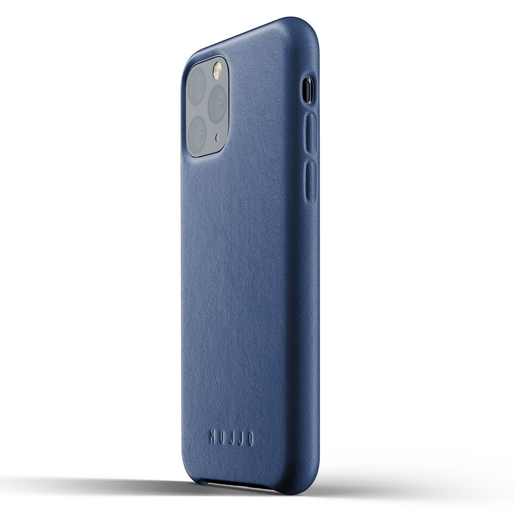 Mujjo Full Leather Case iPhone 11 Pro monaco blue - 3