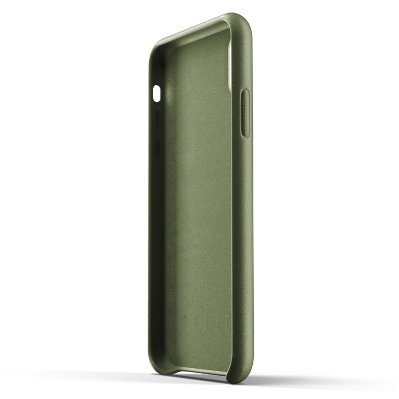 Mujjo Full Leather iPhone XR Case Olive 03