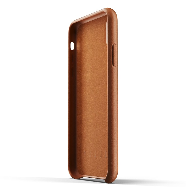 Mujjo Full Leather iPhone XR Case Tan Bruin 03