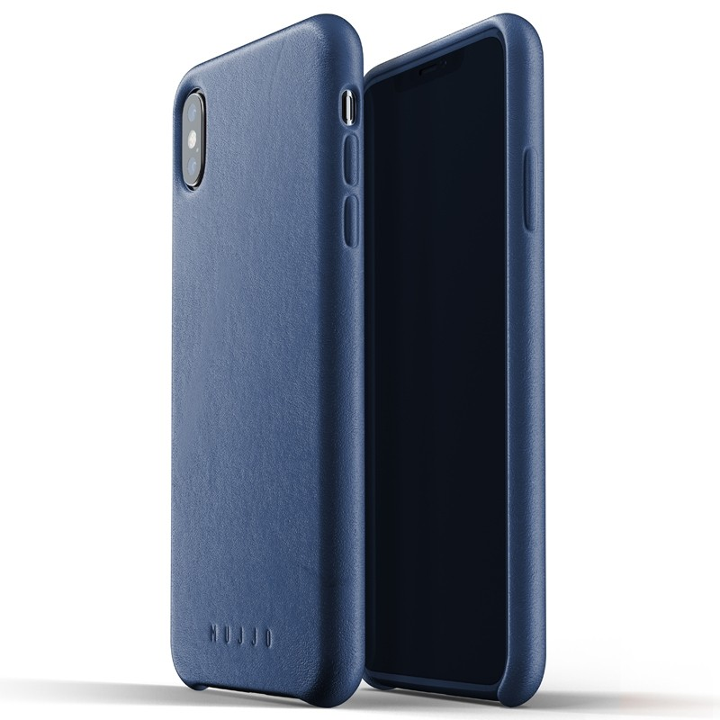 Mujjo Full Leather Case iPhone XS Max blauw 03
