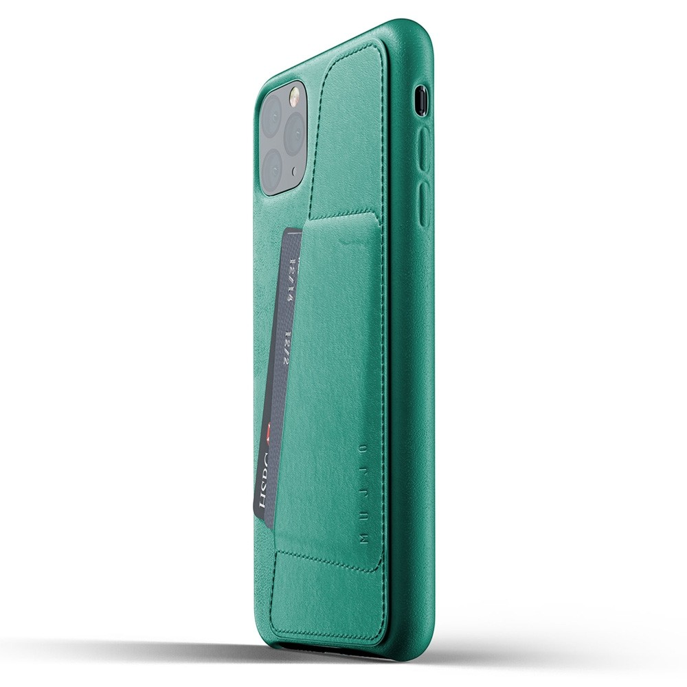 Mujjo Full Leather Wallet iPhone 11 Pro Max alpine green - 3