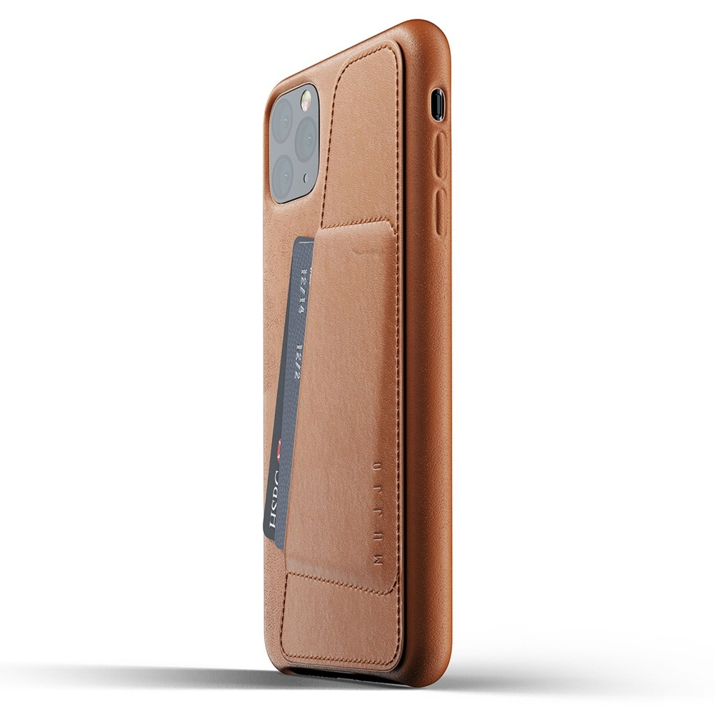 Mujjo Full Leather Wallet iPhone 11 Pro Max bruin - 3