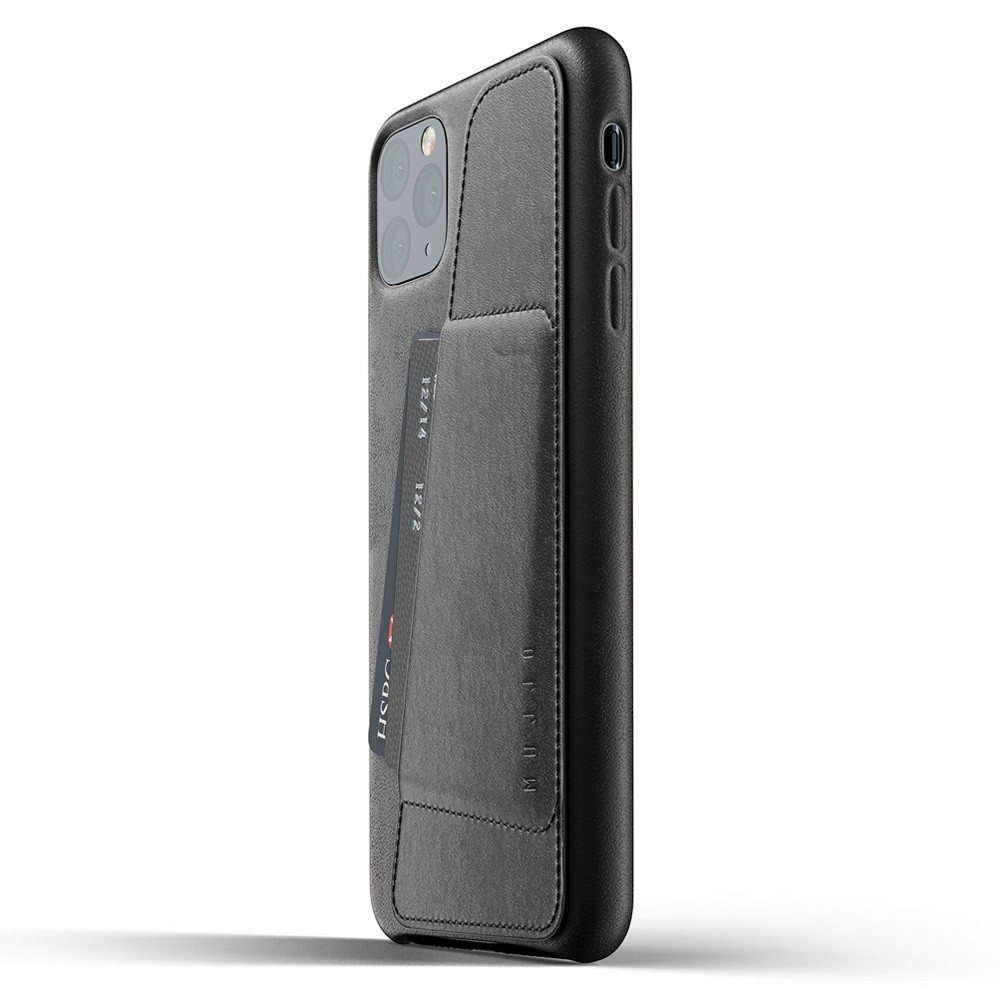 Mujjo Full Leather Wallet iPhone 11 Pro Max zwart - 3