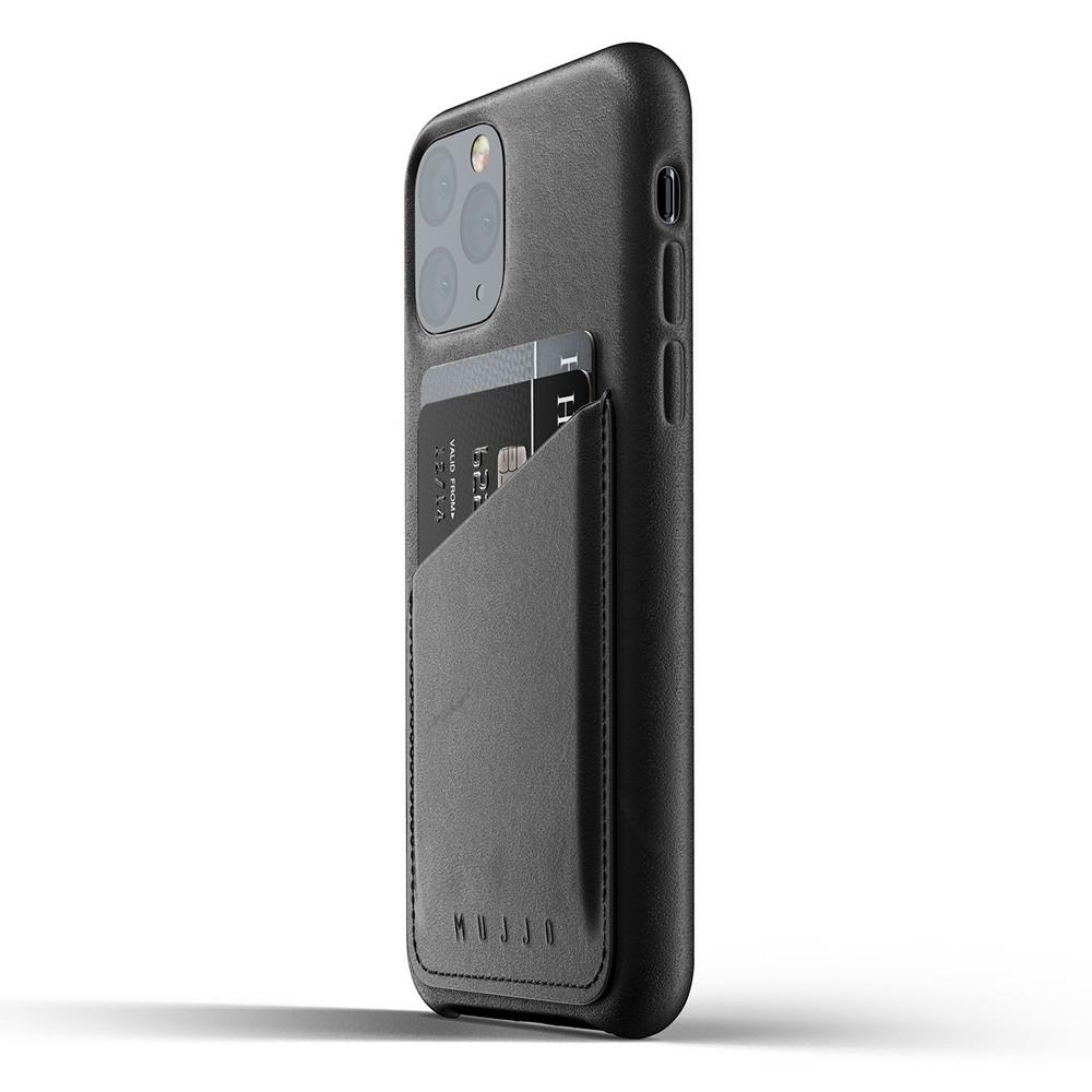 Mujjo Full Leather Wallet iPhone 11 Pro zwart - 3