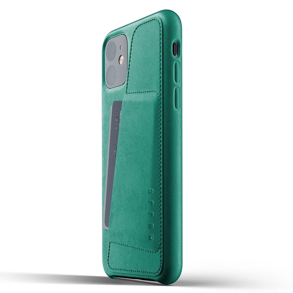 Mujjo Full Leather Wallet iPhone 11 alpine green - 3