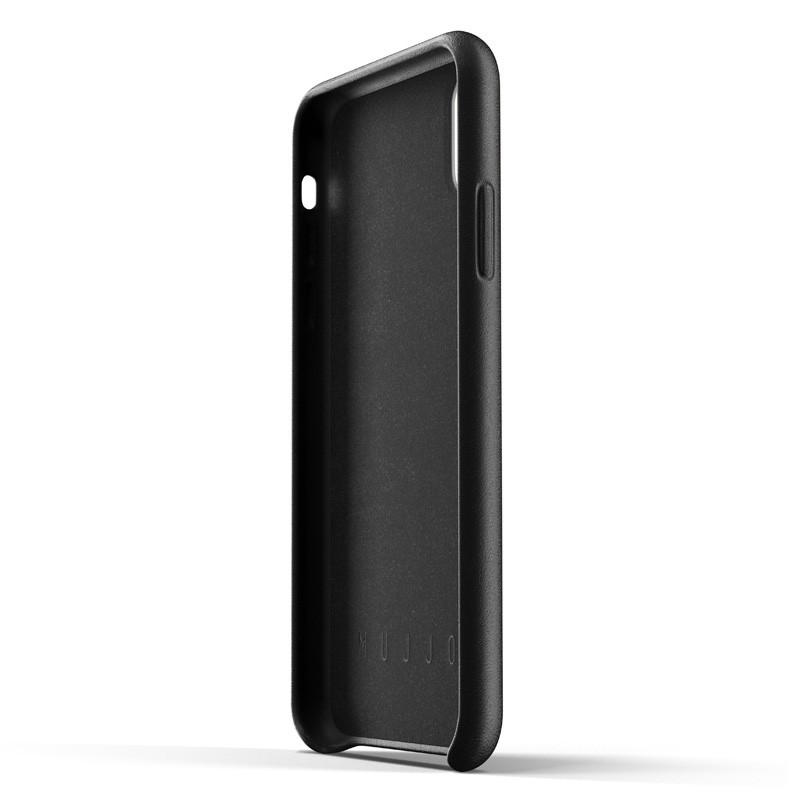 Mujjo Full Leather iPhone XR Case Zwart 03