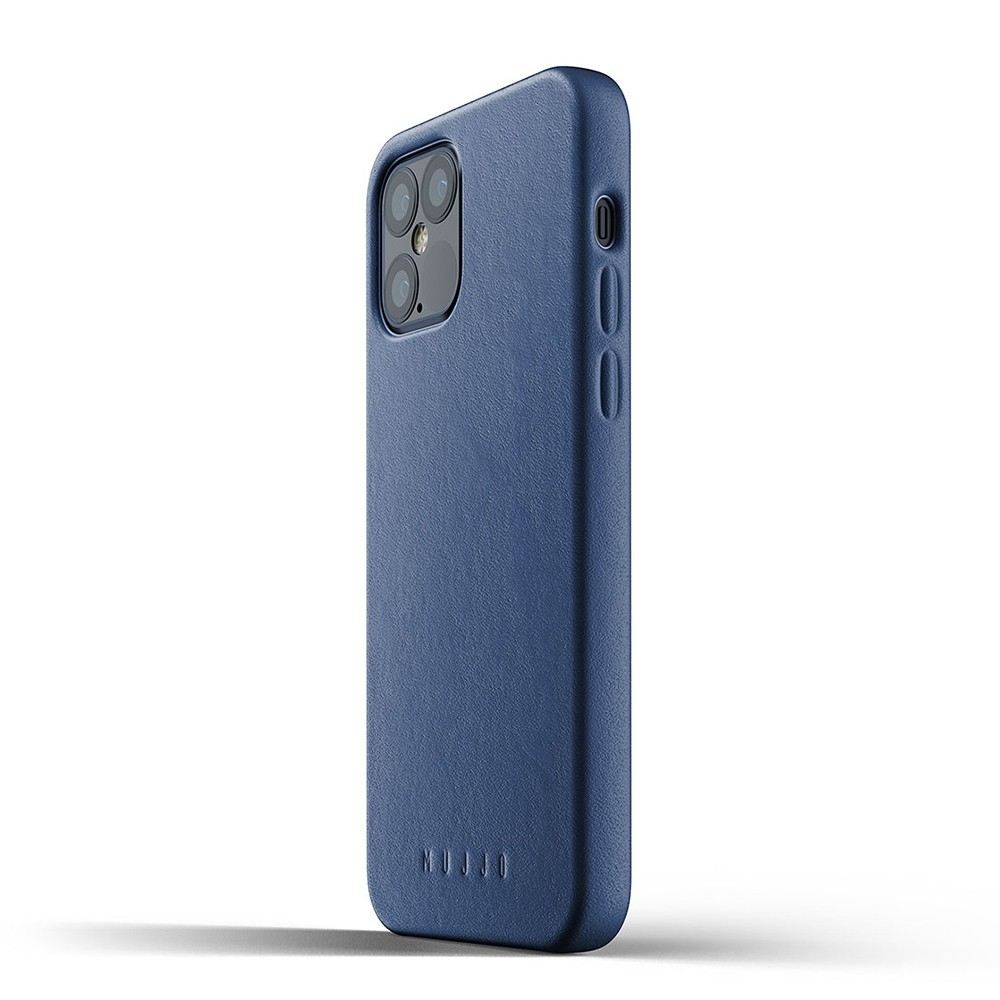 Mujjo Leather Case iPhone 12 / iPhone 12 Pro 6.1 Blauw - 3