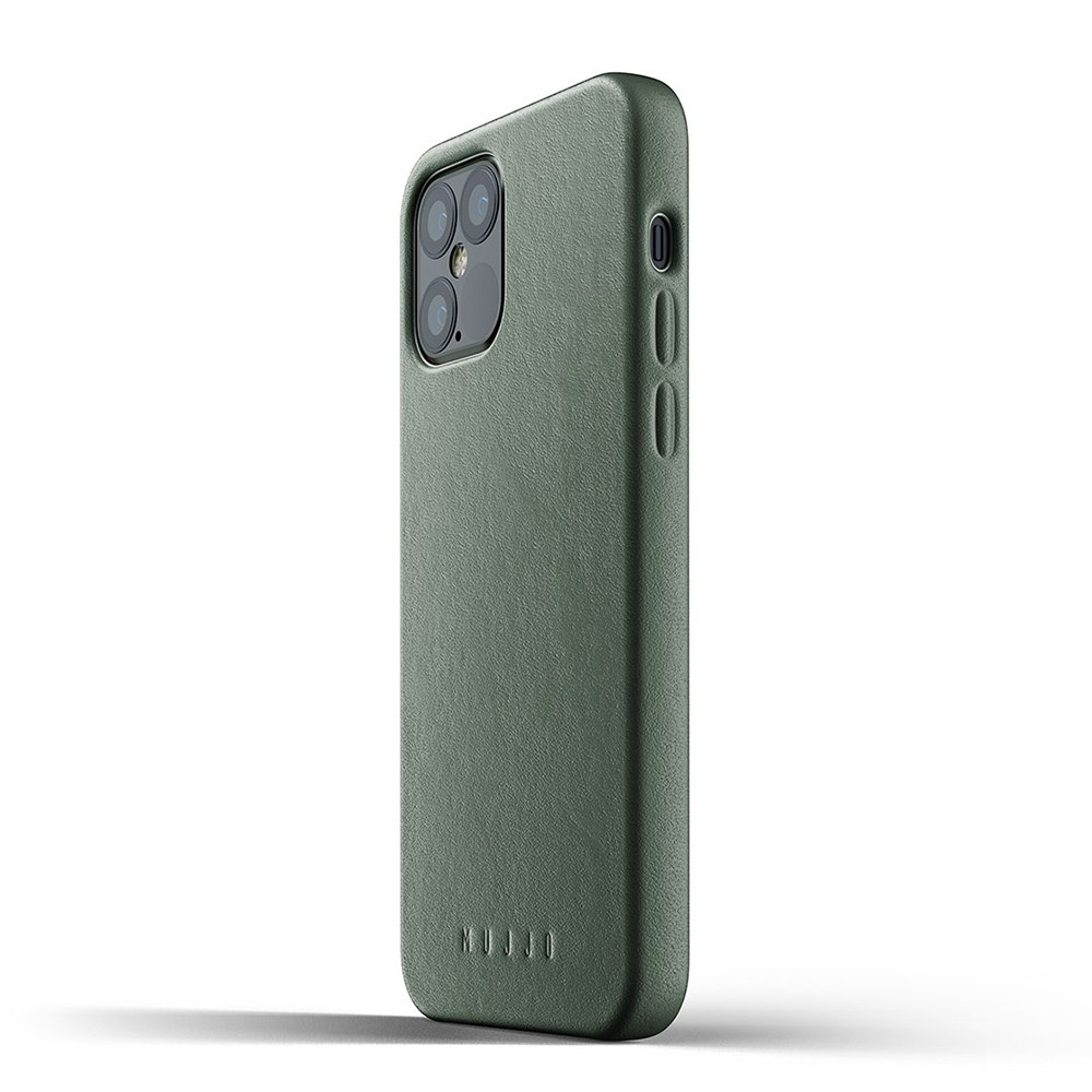 Mujjo Leather Case iPhone 12 / iPhone 12 Pro 6.1 Groen - 3