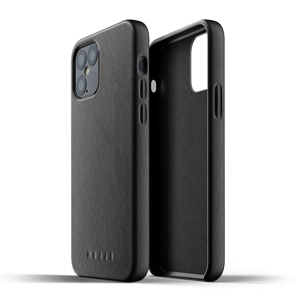 Mujjo Leather Case iPhone 12 / iPhone 12 Pro 6.1 Zwart - 3