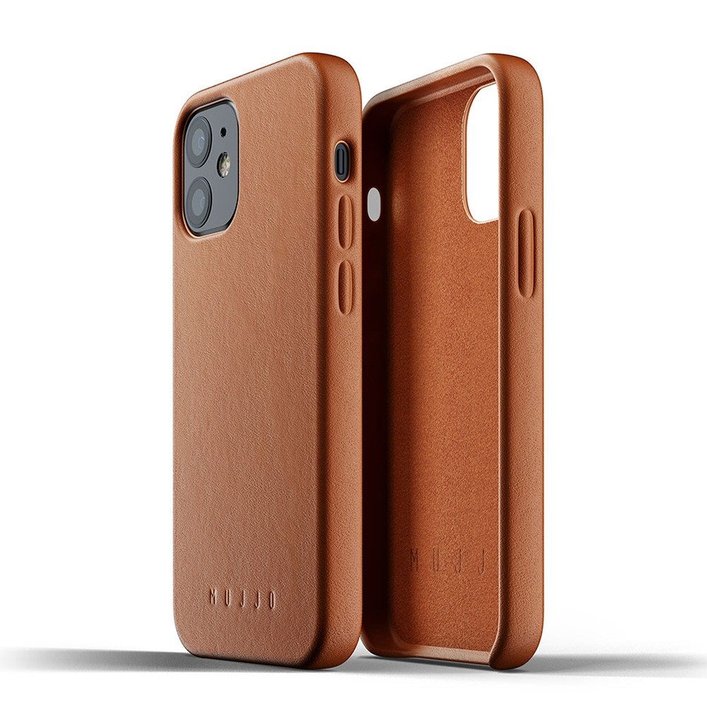 Mujjo Leather Case iPhone 12 Mini Bruin - 3