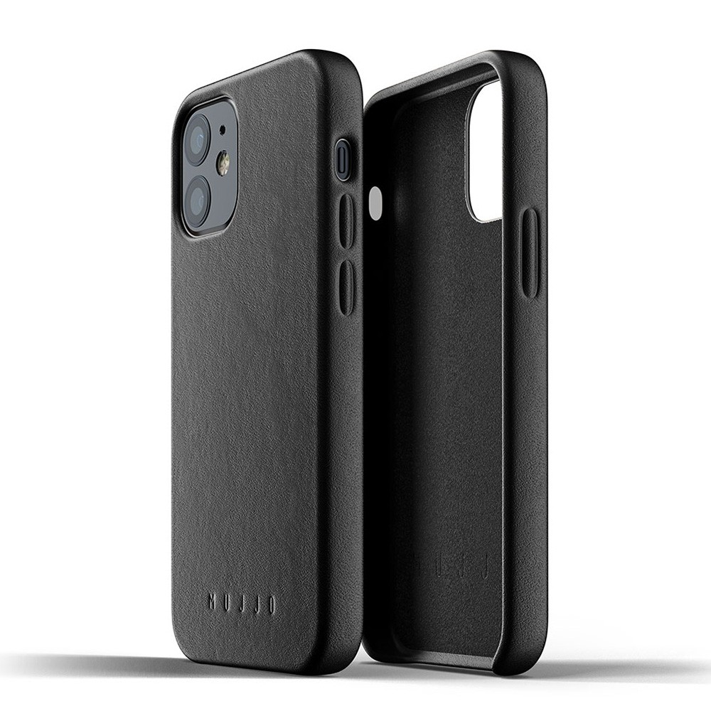 Mujjo Leather Case iPhone 12 Mini Zwart - 3