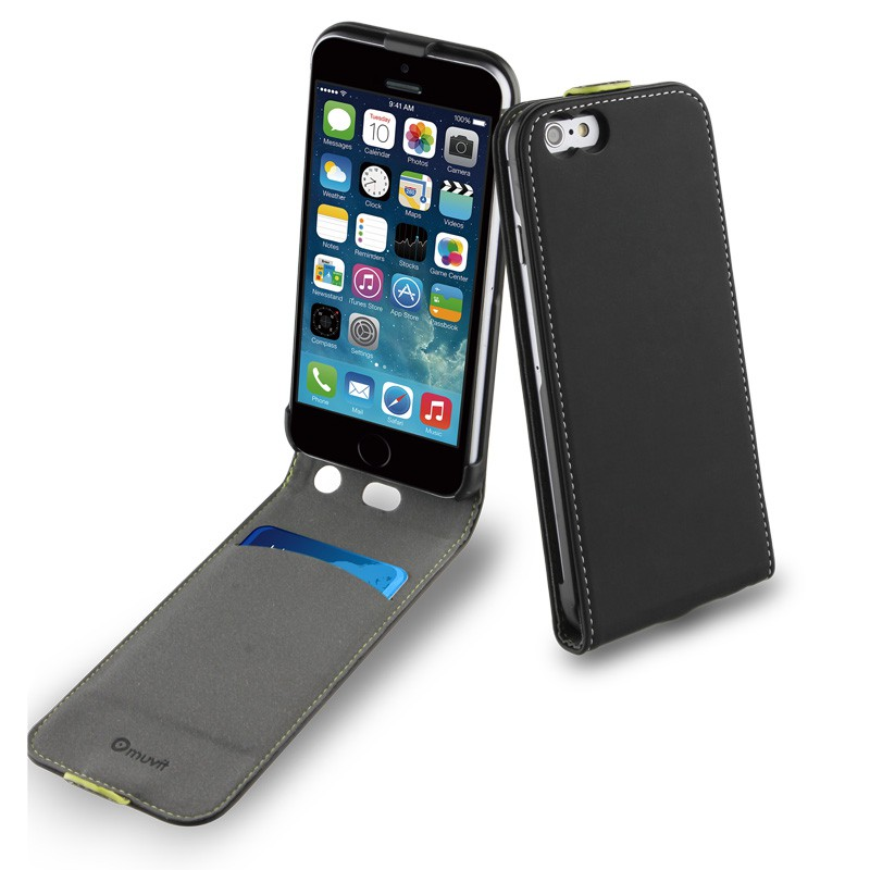 Muvit Slim Flip Case iPhone 6 Black - 3