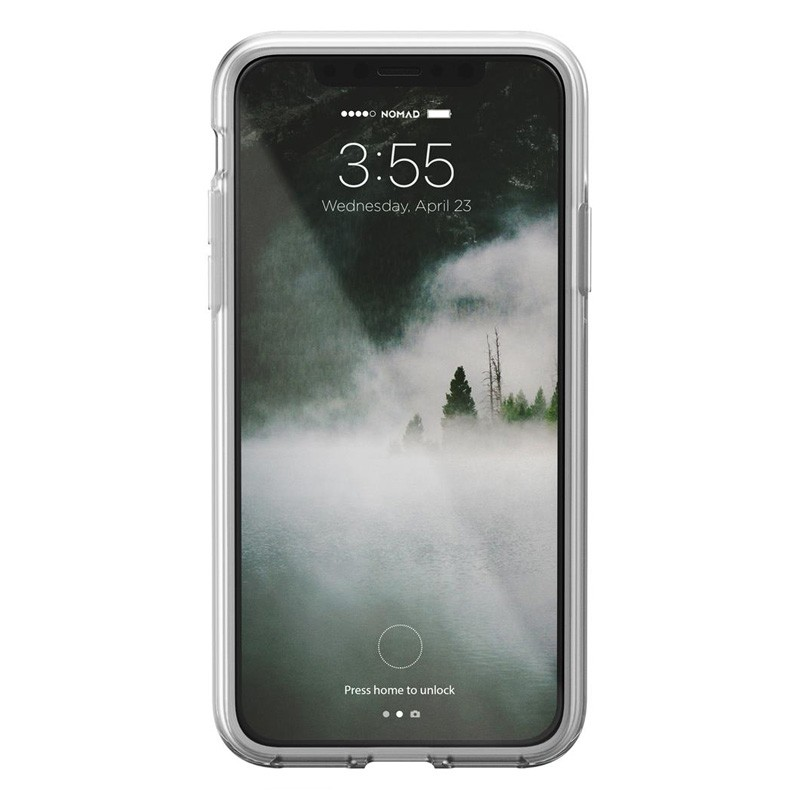 Nomad Clear Leather Case iPhone X Bruin - 3