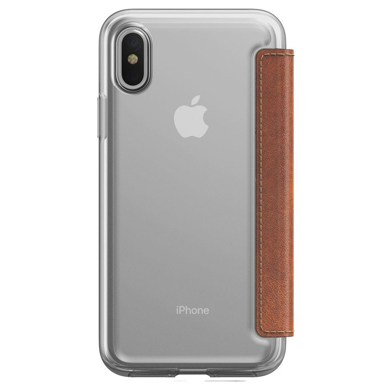 Nomad Clear Leather Folio iPhone X Bruin - 3