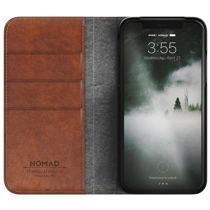 Nomad Leather Folio iPhone X Bruin - 3