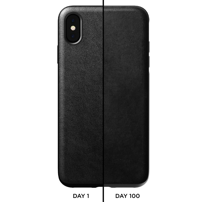 Nomad Leather Case iPhone XS Max Zwart 03