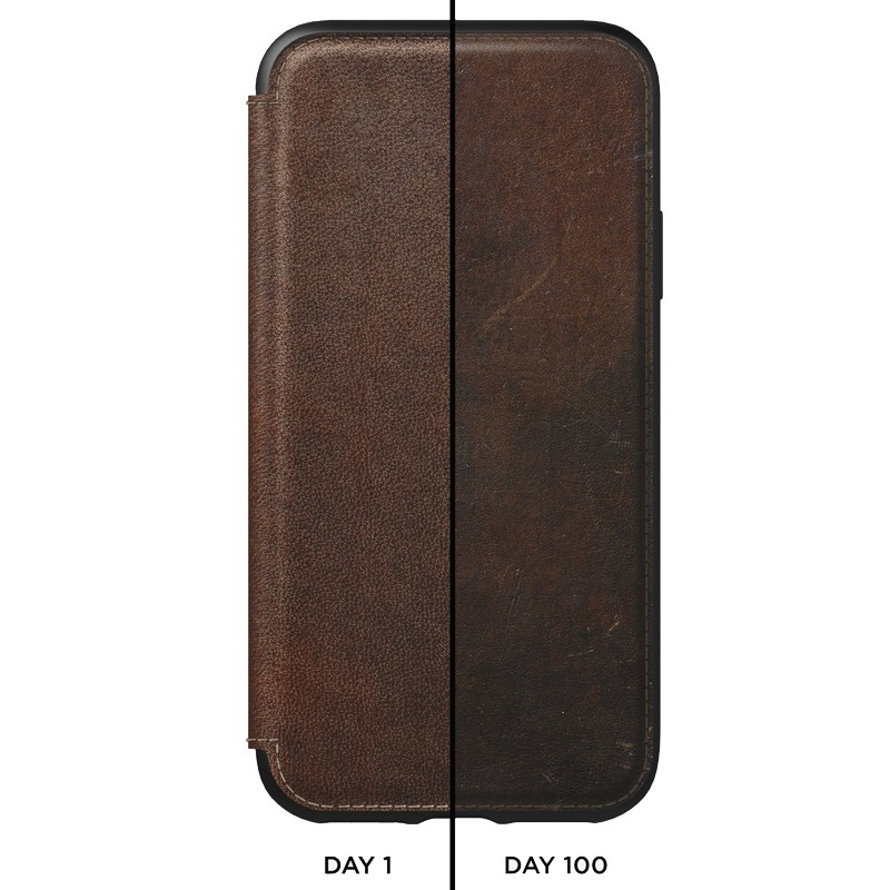 Nomad Leather Folio iPhone XS Max Bruin 03
