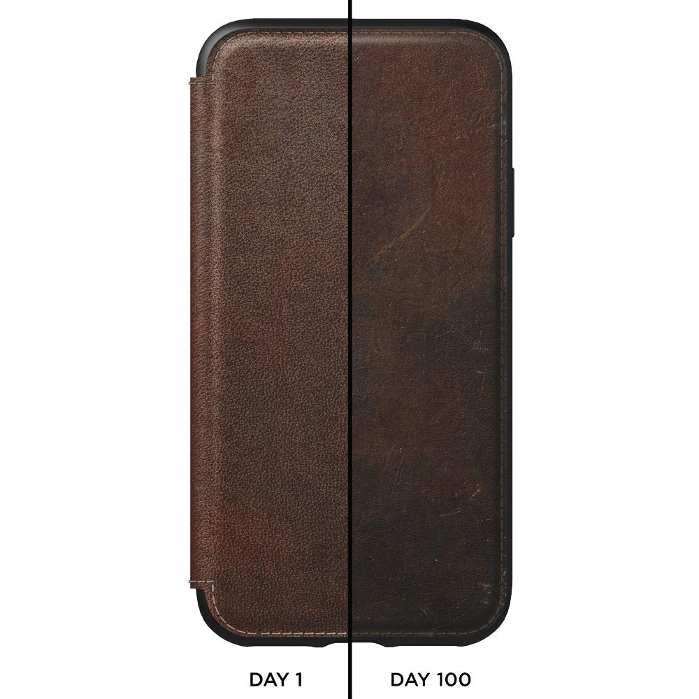 Nomad Tri-Folio Lederen Wallet iPhone XR Bruin 03