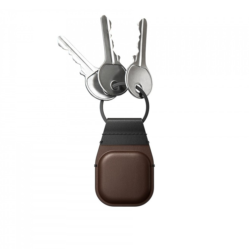 Nomad Leather Keychain AirTag Hoesje Bruin 03