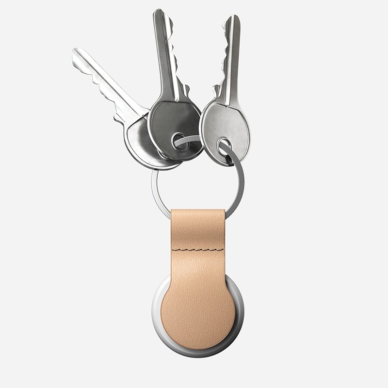 Nomad Leather Loop AirTag Hoesje Natural 03