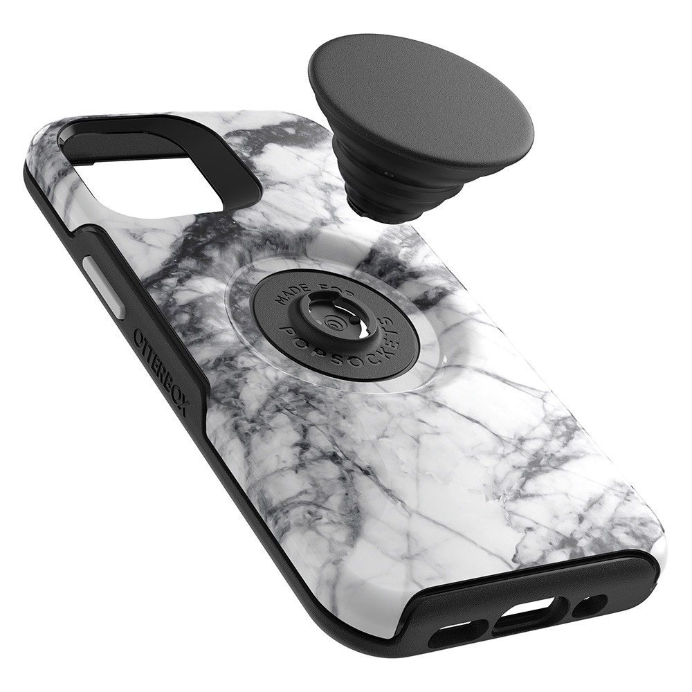 Otterbox Symmetry Otter+Pop iPhone 12 / 12 Pro 6.1 Wit Marmer - 3