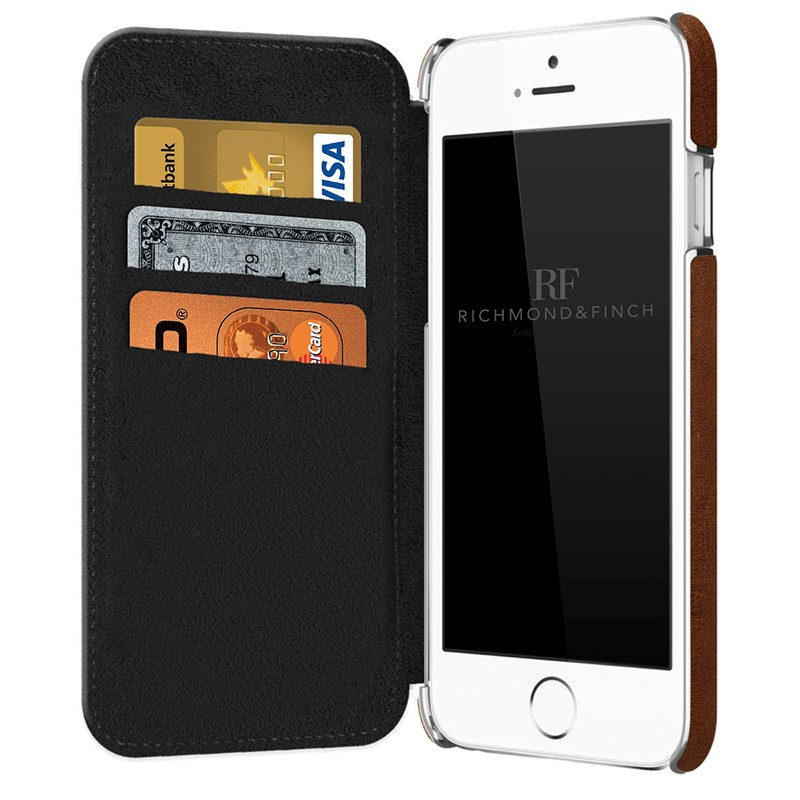 Richmond & Finch - Framed Wallet Case iPhone 6 / 6S Brown 03