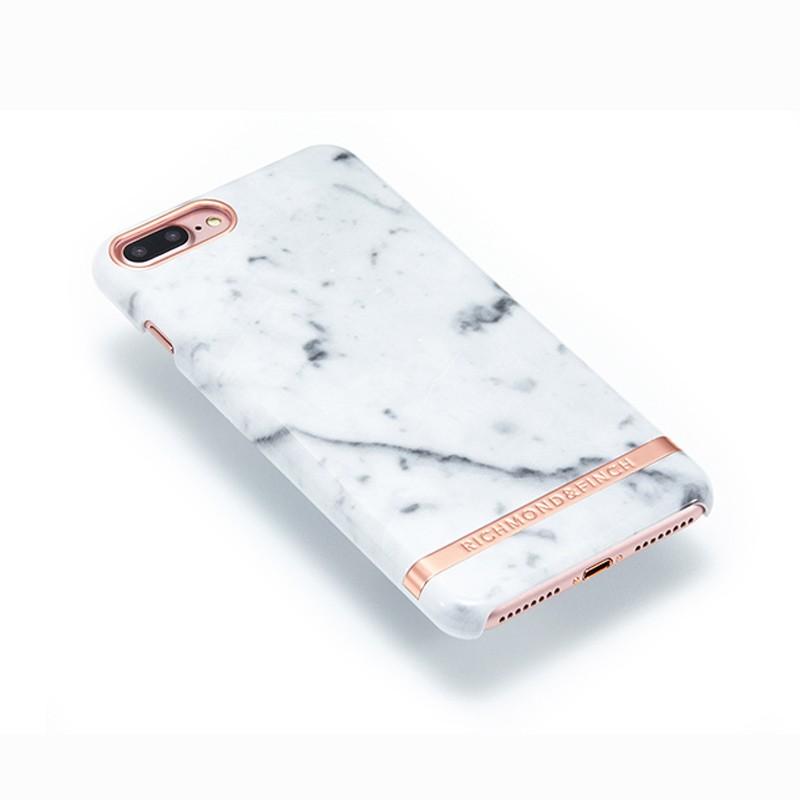 Richmond & Finch - Marble Glossy iPhone 7 Plus White Rose 03