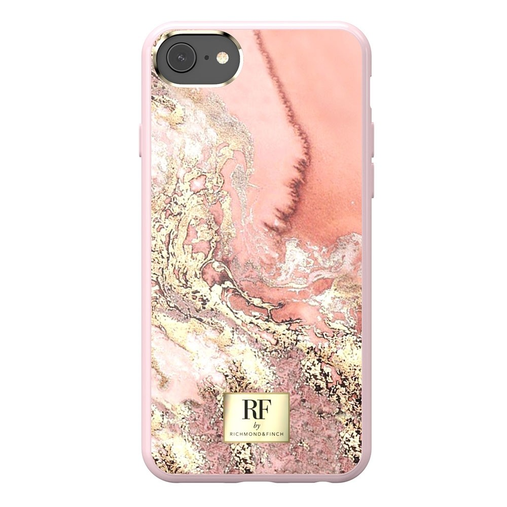 Richmond & Finch RF Series TPU iPhone SE (2020)/8/7/6S/6 Pink Marble Gold - 3