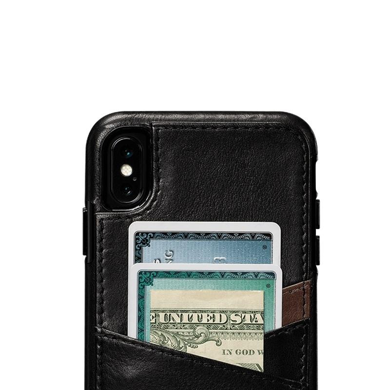 Sena Deen Lugano Wallet iPhone XS Max Hoesje Zwart 03