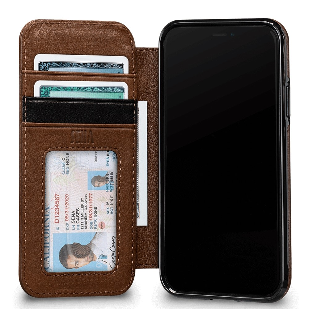 Sena Deen Wallet Book iPhone X/XS Bruin 03